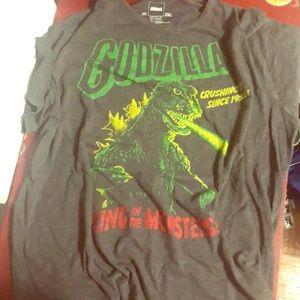 LuckyBrand Godzilla caracol t-shirt